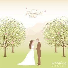 Wedding invitation card - Esküvői meghívó Graphic/Grafika: Wedding Design