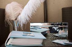 DIY Wedding Guestbook & Ostrich Feather Pens