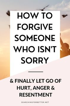 How To Forgive Someone Who Hurt You (& Isn't Sorry). This post is great whether it's a relationship or a friendship that has left you hurt, angry and struggling to let go. These are simple tips on how to forgive someone who hurt you, in any relationship, that isn't sorry. It shows us ways we can let go of anger, hurt and resentment anyways without an apology or acknowledge from the other person. Best Relationship Advice, Types Of Relationships, Letting Someone Go, Letting Go, Toxic Family Members, Let Go Of Anger, Highly Sensitive Person, Healthy Mind And Body, Negative Emotions