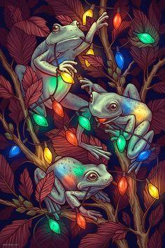 FROG CHRISTMAS BY KATE O'HARA