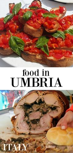 Italian food in Umbria, Italy. Dishes of the region for you to discover via @worldtravelfam/