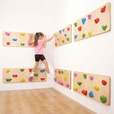 Indoor Traverse Wall Panels-I like that this offers lots of climbing without lots of height! Indoor Traverse Wall Panels-I like that this offers lots of climbing without lots of height! Play Spaces, Kid Spaces, Small Spaces, Indoor Climbing Wall, Climbing Wall Kids, Indoor Play Areas, Indoor Gym, Ideias Diy, Kids Play Area
