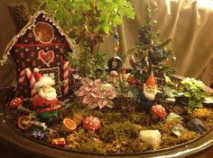 Christmas in my fairy garden