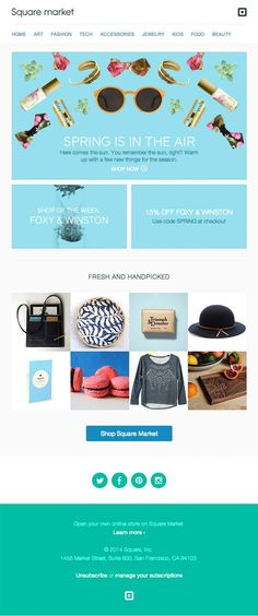 Featured Product Sale Email Design from Square Market