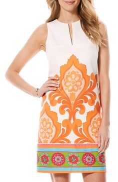 Laundry by Shelli Segal 'Orange Door' Print Shift Dress available at #Nordstrom