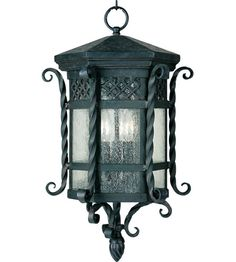 Maxim Lighting Scottsdale 3 Light Outdoor Hanging Lantern in Country Forge 30128CDCF #lightingnewyork #lny #lighting