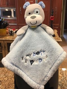 852a74e8f Baby Gear Security Blanket Blue Gray My Best Pup Puppy Dog Lovey | eBay  Blue Blanket