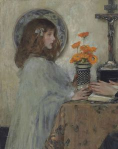 The Offering.c.1897. Sir James Jebusa Shannon.(1862-1923).