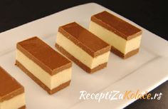 Finger Desserts, Easy Desserts, Bosnian Recipes, Croatian Recipes, Dessert Cake Recipes, Cookie Recipes, Praline Recipe, Chocolate Deserts, Kolaci I Torte