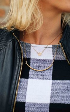 Layered gold necklac