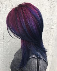"""1,468 Likes, 11 Comments - Directions Hair Colour (@directions_hair_colour) on Instagram: """"A dreamy dark purple to deep blue blend from the lovely @paintedby.maud a colour change doesn't…"""""""