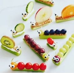 Food Inspiration 20 Easy After-School Snacks Your Kids Will Go. - Food Inspiration 20 Easy After-School Snacks Your Kids Will Go. Food Inspiration 20 Easy After-School Snacks Your Kids Will Go. Toddler Meals, Kids Meals, Toddler Food, Toddler Recipes, Caterpillar Recipe, Hungry Caterpillar Food, Cute Food, Good Food, Funny Food