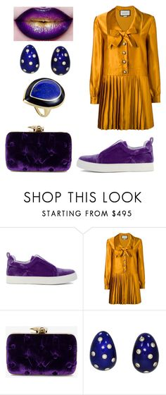 """""""Split-Complementary Relationship"""" by anna-always ❤ liked on Polyvore featuring Pierre Hardy, Gucci, Benedetta Bruzziches, Cartier and Ippolita"""