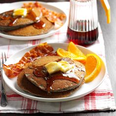 Buttermilk Buckwheat Pancakes Recipe -Our home economists created this flapjack recipe that uses buckwheat flour instead of the wheat-based variety. The light and tender pancakes offer a nutty flavor and hearty texture that are guaranteed to get your day of to a bright start.