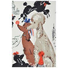 Vintage Poodle Fabric by Lee Jofa