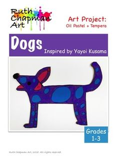 dot day art projects Japanese pop artist Yayoi Kusama is the inspiration for these colorful polka-dot dogs. The dogs are painted in tempera on large pieces of recycled corrugated ca Art Videos For Kids, Art Lessons For Kids, Artists For Kids, Art Lessons Elementary, Art For Kids, Yayoi Kusama Pumpkin, First Grade Art, Second Grade, Polka Dot Art