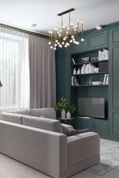 Pink, Gray And Green Tones Are The Winning Formula For The Rich And Stylish  Design Of This Three Dimensional Living Space.