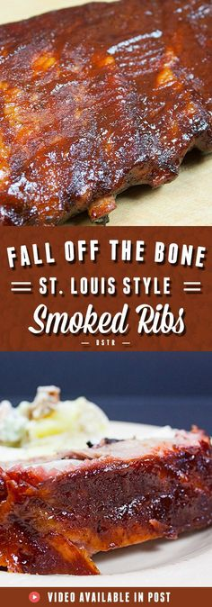 - St Louis Style Ribs – Perfect every time. You will not fail with this technique…. St Louis Style Ribs – Perfect every time. You will not fail with this technique. Become the grill master at your home! Smoker Grill Recipes, Healthy Grilling Recipes, Smoked Meat Recipes, Rib Recipes, Recipes Dinner, Grilled Recipes, Salmon Recipes, Chicken Recipes, Vegetarian Grilling