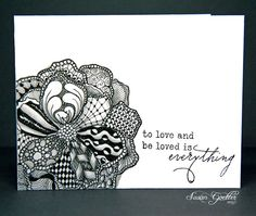 Zentangle Card Patterns Drawings Doodles Zentangles Doodle Zen
