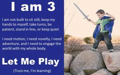 let the children play: it's playtime - let me play!