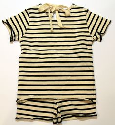 OLIVE completo baby girl a righe 100% made in Italy
