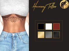 [MS] Harmony Tattoo6 colors  DOWNLOAD