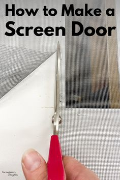 Learn how to make your own screen door, instead of buying an expensive one at the store! Easy Woodworking Projects, Easy Projects, Liberty Home, Picnic Table Plans, Diy Screen Door, Home Hacks, Outdoor Projects, Door Design, Home Improvement Projects