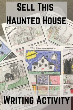 Sell this Haunted House Middle School Halloween Writing Activity