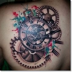Tattoos.com | Most Brilliant Pocket Watch Tattoo Designs Ever Made | Page 12