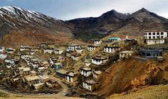 Village Kibber, Lahaul & Spiti Valley of #HimachalPradesh, India. The #beautiful village of Kibber, which is located in Spiti Valley and at a height of 4205 meters above sea level, holds the distinction of being the Highest Motorable Village in the world. #ShimlaLife #morning