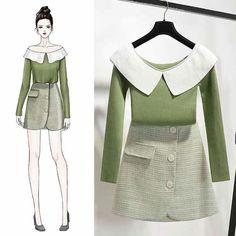 Fashion Design Drawings, Fashion Sketches, Fashion Art, Fashion Outfits, Womens Fashion, Fashion Illustration Dresses, Korean Girl Fashion, Dress Sketches, Dress Drawing