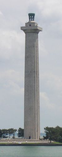 The tallest lighthouses in the world.  Perrys victory and peace memorial. 107m. The tallest of America. Granite. 1915  Put-in-Bay, Ohio USA
