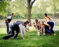 A funny wedding photo idea for football lovers! | Thisday Photography @SnapKnot