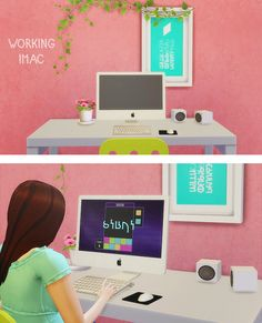 LinaCherie: iMac - working computer • Sims 4 Downloads