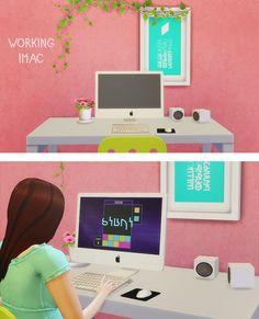 LinaCherie: iMac - working computer • Sims 4 Downloads