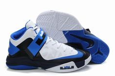 detailed look 5c5e5 b9f30 Nike Zoom Soldier 6 Black White Blue Basketball shoes sale on http