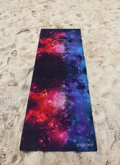 For free and faster shipping, please visit www.ModCloth.com and search for 'Yoga Zeal' Galaxy Mat Hot Yoga Mat. High quality, non-slip, combo mat/towel designed to grip the more you sweat on your mat!