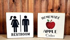 Primitive Wood Signs, Holiday Time, Different Colors, Farmhouse Decor, Solid Wood, No Response, Apple, Homemade, Mini