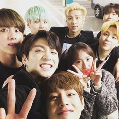 BTS with SKTelecom staff - the CF was filmed on 160305 | ©jsunny90 #방탄소년단 #BTS #JUNGKOOK #전정국
