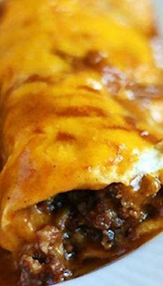 Enchirritos- part enchilada, part burrito, all deliciousness. Great for Cinco de Mayo!