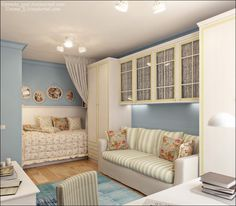 Designing small apartments is seen as a very difficult subject. Tiny Apartment Living, Apartment Design, Cute Bedroom Ideas, Loft Room, Interior Decorating, Interior Design, Dream Decor, Living Room Bedroom, Small Apartments
