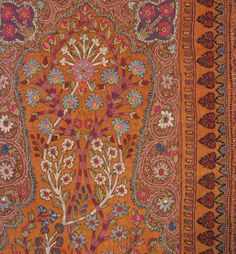 Unbelievable Silk Embroidered Suzani | From a unique collection of antique and modern textiles and quilts at http://www.1stdibs.com/furniture/more-furniture-collectibles/textiles-quilts/
