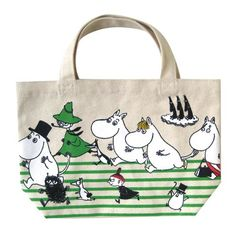 Moomin Valley Characters Tote Bag Lunch Bag Running Moomin(ランニング)
