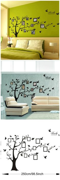 Huge Size Family Photo Frame Tree Quote Picture Removable Wall Decor Art Stickers Vinyl Decals Home Decor