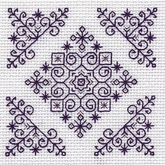 Diadem Mini Blackwork Kit by Holbein Embroideries