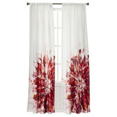 Room Essentials Chesapeake Big Floral Window Panel Pair - I love the idea of curtains with one large design on them.