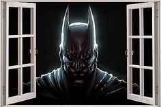Huge 3d window fantasy dark knight batman  view wall #stickers film #decal #mural,  View more on the LINK: http://www.zeppy.io/product/gb/2/400752321694/