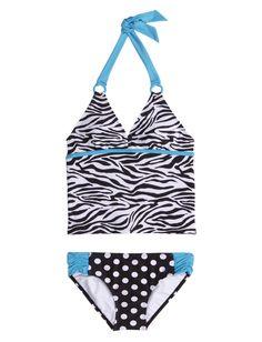 Zebra Dot Tankini Swimsuit | Tankinis | Swimsuits | Shop Justice