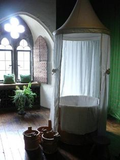 Medieval room for the bath Photo - Leeds Castle, Kent, England. I want this window