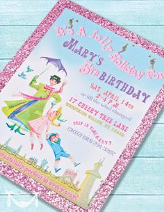 Mary Poppins Vintage Party  PRINTABLE CUSTOMIZED by CutiePutti, $15.50